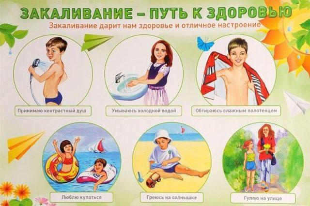 Закаливание детей дошкольного возраста: с чего начать, закаливание детей водой и воздухом